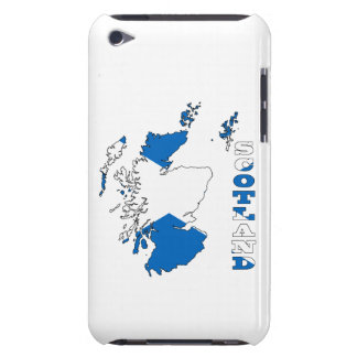 Flag in Map of Scotland iPod Touch Case-Mate Case