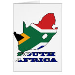 Flag in Map of South Africa Greeting Card