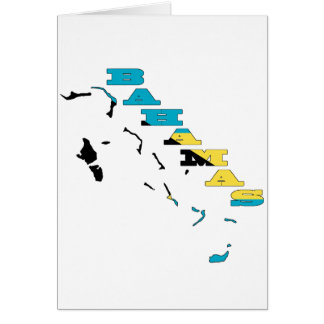 Flag in Map of the Bahamas Card