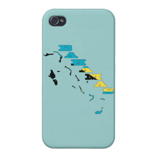 Flag in Map of the Bahamas iPhone 4/4S Case