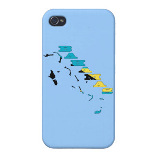 Flag in Map of the Bahamas iPhone 4 Case