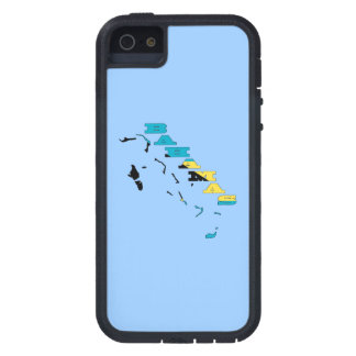 Flag in Map of the Bahamas iPhone SE/5/5s Case