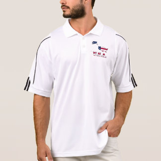 Flag in Map of the United States of America Polo Shirt