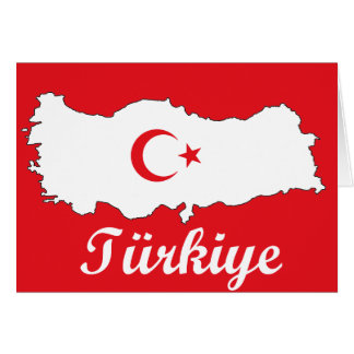 Flag in Map of Turkey Inverse Card