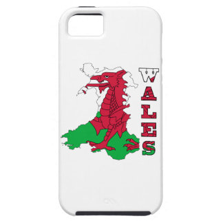 Flag in Map of Wales iPhone SE/5/5s Case