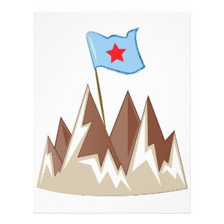 Flag In Mountain Letterhead