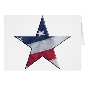 Flag in star greeting card