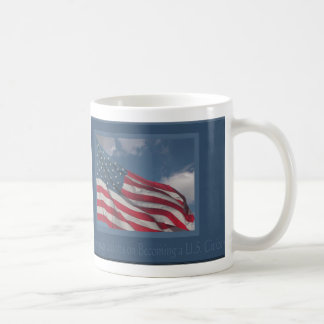 Flag in the Clouds/Congratulations on Becoming a U Classic White Coffee Mug