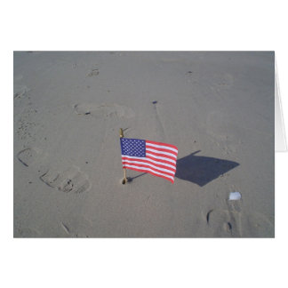 Flag in the Sand Greeting Card