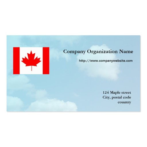 Flag international business,blue sky background business cards