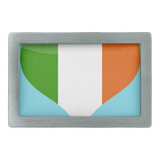 Flag Ireland heart love patriotic stripes country Belt Buckle