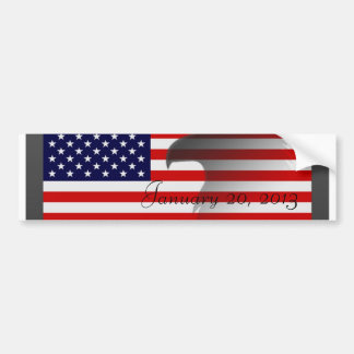 Flag-January 20, 2013 Bumper Sticker