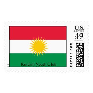 flag-kurdistan, Kurdish Youth Club Stamp