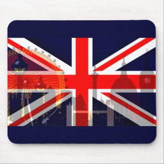 Flag_ Londres-Británico Alfombrillas De Ratones