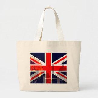 Flag_ Londres-Británico Bolsa Tela Grande
