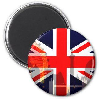 Flag_ Londres-Británico Imán De Frigorífico