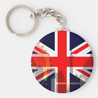 Flag_ Londres-Británico Llavero Redondo Tipo Pin