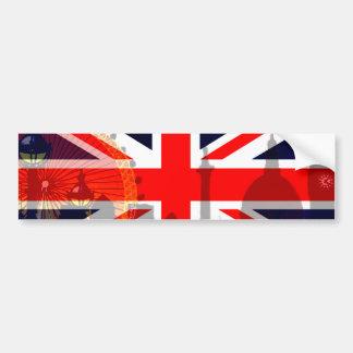 Flag_ Londres-Británico Pegatina Para Auto