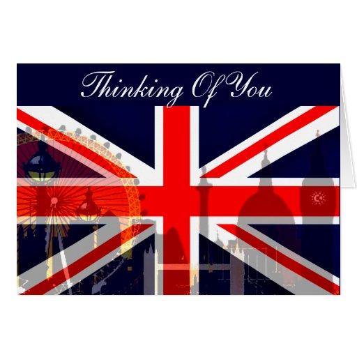 Flag_ Londres-Británico Tarjeta