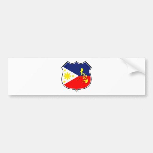 Flag & map bumper sticker