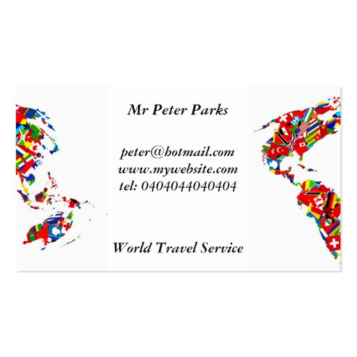 Flag Map, Business Card Template