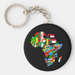 Flag Map of Africa Flags - African Culture Gift Basic Round Button Keychain