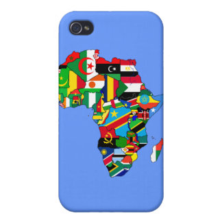 Flag Map of Africa Flags - African Culture Gift Case For iPhone 4