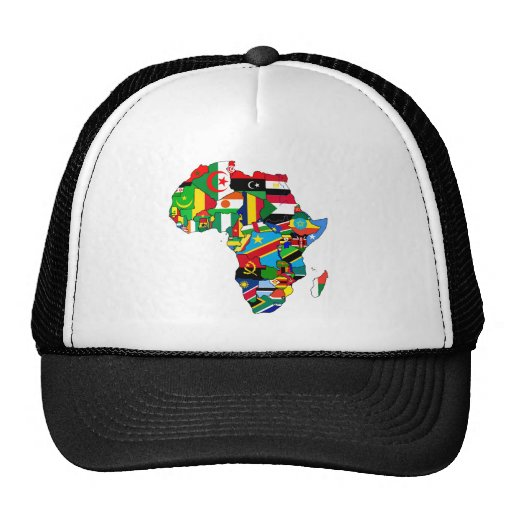 Flag Map of Africa Flags - African Culture Gift Mesh Hat