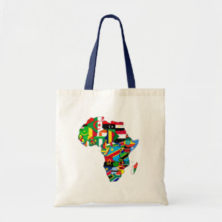 Flag Map of Africa Flags - African Culture Gift Tote Bag