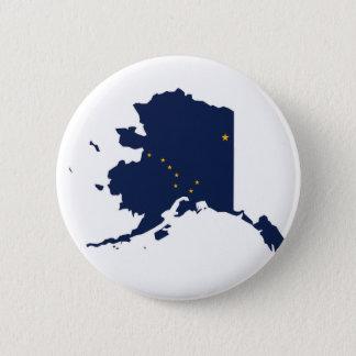 Flag Map Of Alaska Button