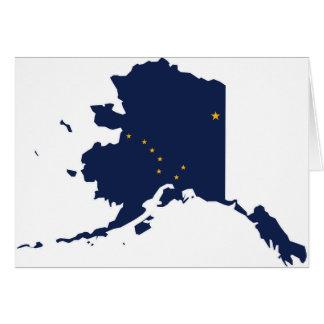 Flag Map Of Alaska Card