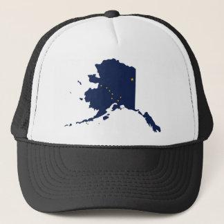 Flag Map Of Alaska Trucker Hat
