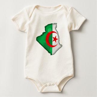 Flag Map of Algeria for Algerians worldwide Romper