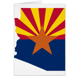 Flag Map Of Arizona Card