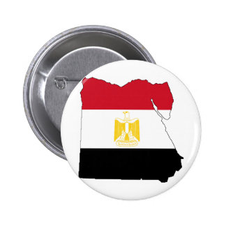 Flag/Map of Egypt 2 Inch Round Button