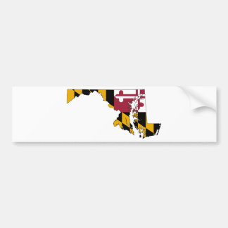 Flag Map Of Maryland Bumper Sticker