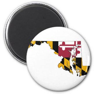 Flag Map Of Maryland Magnet