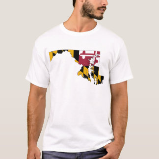 Flag Map Of Maryland T-Shirt