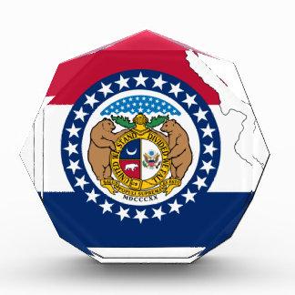 Flag Map Of Missouri Acrylic Award