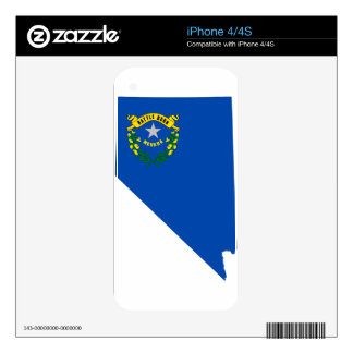 Flag Map Of Nevada Decal For iPhone 4