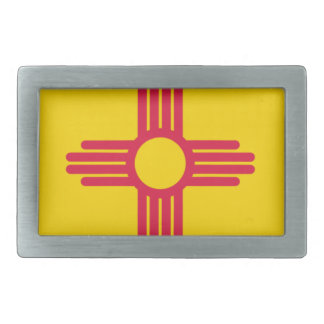 Flag Map Of New Mexico Belt Buckle