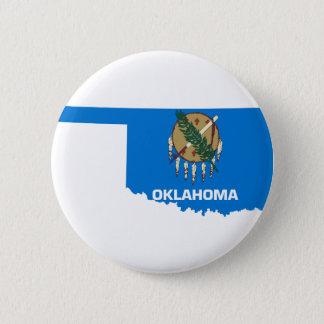 Flag Map Of Oklahoma Button