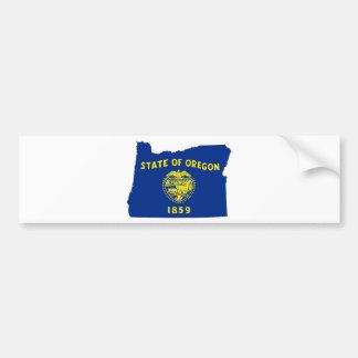 Flag Map Of Oregon Bumper Sticker