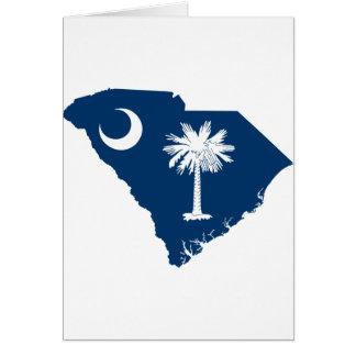Flag Map Of South Carolina Card