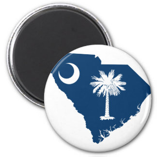 Flag Map Of South Carolina Magnet