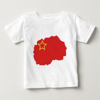 Flag map of SR Macedonia Baby T-Shirt