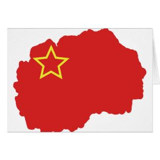 Flag map of SR Macedonia Card