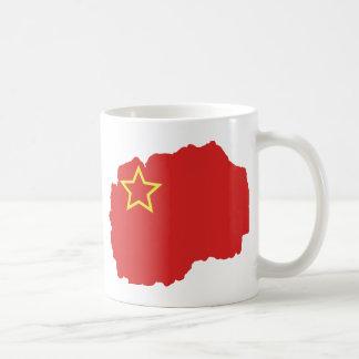 Flag map of SR Macedonia Coffee Mug