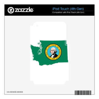 Flag Map Of Washington iPod Touch 4G Decals