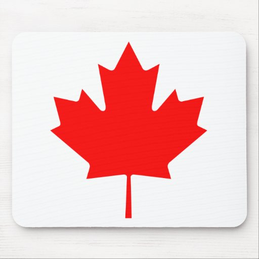 Flag maple leaf mouse pad